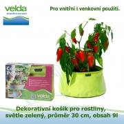 Dekorativní košík pro rostliny, světle zelený, průměr 30cm, obsah 9l - Velda Colour Pond Mini Lime