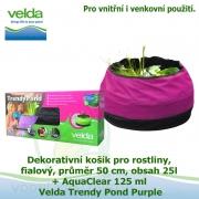 Dekorativní mini jezírko pro rostliny a rybky, fialová, průměr 50cm, obsah 25l + AquaClear 125 ml - Velda Trendy Pond Purple