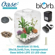 Oase biOrb LIFE 15 LED clear - Akvárium 15 litrů, 29 x 19,3 x 40,7cm, transparentní