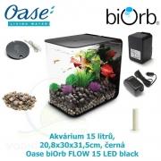 Akvárium Biorb Flow, černé, 15 l, Oase biOrb FLOW 15 LED black, 20,8 x 30 x 31,5 cm