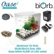 Akvárium Biorb Flow, bílé, 15 l, Oase biOrb FLOW 15 LED, white, 20,8 x 30 x 31,5cm