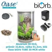 Oase biOrb TUBE 30 MCR white - Akvárium 30 litrů, průměr 32,8cm, výška 51,3cm, bílá