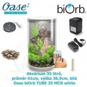 Oase biOrb TUBE 35 MCR white - Akvárium 35 litrů, průměr 41cm, výška 36,9cm, bílá
