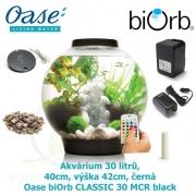 Oase biOrb CLASSIC 30 MCR black - Akvárium 30 litrů, průměr 40cm, výška 42cm, černá
