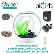 Oase biOrb CLASSIC 60 LED white - Akvárium 60 litrů, průměr 50cm, výška 52cm, bílá