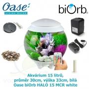 Oase biOrb HALO 15 MCR white - Akvárium 15 litrů, průměr 30cm, výška 33cm, bílá