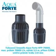 Tubusové čerpadlo Aqua Forte HFP-70000, max. průtok 70000 l/h, výtlak 3,5 m, příkon 520W, vnitřní průměr hrdla 110 mm