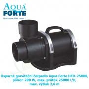 Úsporné gravitační čerpadlo Aqua Forte HFD-25000, příkon 290 W, max. průtok 25000 l/h, max. výtlak 2,6 m