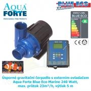 Úsporné gravitační čerpadlo s externím ovladačem Aqua Forte Blue Eco Marine 240 Watt, max. průtok 23m³/h, výtlak 5 m