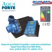 Úsporné gravitační čerpadlo s externím ovladačem Aqua Forte Blue Eco 900 Watt, max. průtok 48m³/h, výtlak 13 m