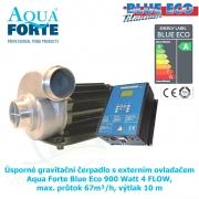 Úsporné gravitační čerpadlo s externím ovladačem Aqua Forte Blue Eco 900 Watt 4 FLOW, max. průtok 67m³/h, výtlak 10 m