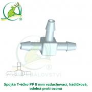 Spojka T-éčko PP 8 mm vzduchovací, hadičková, odolná proti ozonu