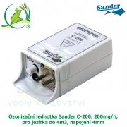 Ozonizer Certizon C 200, ozonizační jednotka Sander, 200mg/h, pro jezírka do 4m3, napojení 4mm