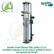 Sander Fresh Skimm 300, výška 2,1 m, množství vzduchu 1,5-3,5 m3/h, průtok 8 m3/h, pro jezírka do 50 m3