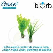 biOrb zelené rostliny do akvária malé, 2 kusy, výška 20cm, dekorace do akvária
