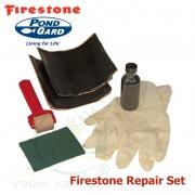 2 ks záplat na EPDM a PVC, včetně mini-válečku, Firestone QuickSeam Repair Kit