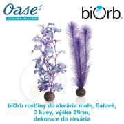 biOrb rostliny do akvária střední, fialové,  2 kusy, výška 29cm, dekorace do akvária