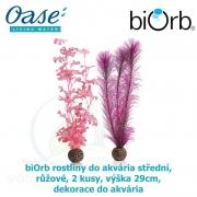 biOrb rostliny do akvária střední, růžové, 2 kusy, výška 29cm, dekorace do akvária