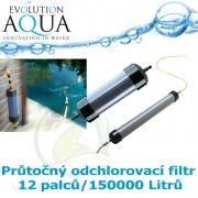 Průtočný odchlorovací filtr 12 palců - 150000 Litrů
