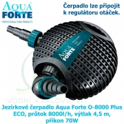 Jezírkové čerpadlo Aqua Forte O-8000 Plus ECO, průtok 8000l/h, výtlak 4,5 m, příkon 70W