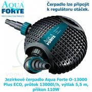 Jezírkové čerpadlo Aqua Forte O-13000 Plus ECO, průtok 13000l/h, výtlak 5,5 m, příkon 110W