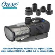 Fontánové čerpadlo Aquarius Eco Expert 22000, max. průtok 22000 l/h, výtlak 9,6 m, příkon 350W,