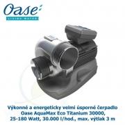 Výkonné a energeticky velmi úsporné čerpadlo - Oase AquaMax Eco Titanium 30000, 25-180 Watt, 30.000 l/hod., max. výtlak 3 m