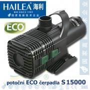 Čerpadlo Hailea S 15000 ECO, max. průtok 15200 l/h, výtlak 4,9 m, příkon 210W