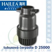 Tubusové, trubkové čerpadlo Hailea D 25000, max. průtok 25000 l/h, výtlak 3 m, příkon 188W, vnitřní průměr hrdla 110 mm
