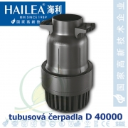 Tubusové, trubkové čerpadlo Hailea D 40000, max. průtok 38000 l/h, výtlak 4,5 m, příkon 299W, vnitřní průměr hrdla 110 mm