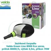 Jezírkové čerpadlo Velda Green Line 8000 Eco verze, průtok 8000l/h, výtlak 4,5m, příkon 70W