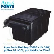 Filtrace Aqua Forte Multibay 25000 s UV 36W, průtok 10 m3/h, pro jezírka do 25 m3