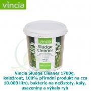 Vincia Sludge Cleaner 1700 g, kaložrout bakterie na 10-25 m2, 100% přírodní produkt na cca 10-25.000 litrů, bakterie na nečistoty, kaly, usazeniny a výkaly ryb