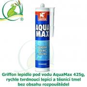 Griffon lepidlo pod vodu AquaMax 425g, rychle tvrdnoucí lepící a těsnící tmel bez obsahu rozpouštědel.