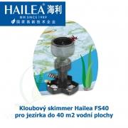 Tubusový skimmer kloubový s velkým plovákem o průměru 200 mm, pro jezírka do 40 m2 vodní plochy