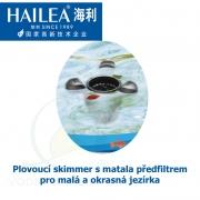 Plovoucí skimmer s matala předfiltrem pro malá a okrasná jezírka, výkon 2900 litrů/hod.
