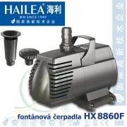 Fontánové čerpadlo Hailea HX-8860F, 5800 litrů/hod. max. výtlak 4,1 m, 150 W s fontánovými nástavci a kabelem 10 metrů