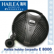 Jezírkové čerpadlo Hailea E 8000, 72 Watt, 7.150 l/hod., výtlak 2,5 m