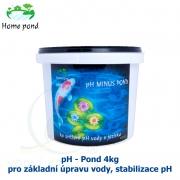 pH minus Pond 4kg - pro základní úpravu vody, stabilizace pH