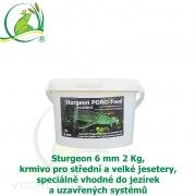 Sturgeon Pond Food Excellent 6 mm 2 kg, krmivo pro střední a velké jesetery, speciálně vhodné do jezírek a uzavřených systémů