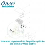 Náhradní napojovací set čerpadla a přítoku pro skimmer Oase Biosys