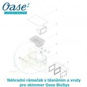 Náhradní vnější rámeček s těsněním a vruty pro skimmer Oase BioSys
