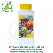 Dry Bacterials 1 litr na 10-100 m3 - bakterie pro nastartování jezírek, zlepšení čistoty dna a kvality vody