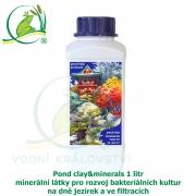 Pond clay&minerals 1 litr - minerální látky pro rozvoj bakteriálních kultur na dně jezírek a ve filtracích