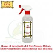 House of Kata Medical & Net Cleaner 500 ml, účinný dezinfekční prostředek na bázi alkoholu