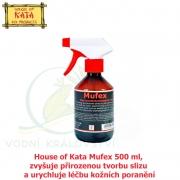 House of Kata Mufex 500 ml, zvyšuje přirozenou tvorbu slizu a urychluje léčbu kožních poranění