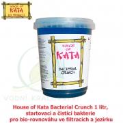 House of Kata Bacterial Crunch 1 litr na 30-100 m3, startovací a čistící bakterie pro bio-rovnováhu ve filtracích a jezírku