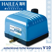 Tichý kompresor Hailea V-10, 10 Watt, 10 l/min., (model Aquaforte V-10)