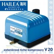 Tichý kompresor Hailea V-20, 15 Watt, 20 l/min., (model Aquaforte V-20)