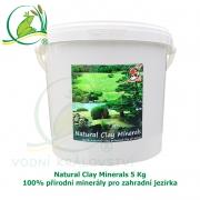 Natural Clay Minerals 5 kg - 100% přírodní minerály pro zahradní jezírka, pro 50-800 m3